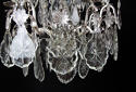 A Silvered Bronze Cage Chandelier - picture 5
