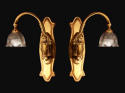 A large pair of  single arm wall lights - picture 1