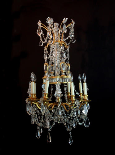 A Superb Baccarat/Bagues Chandelier