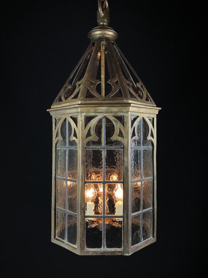 Neogothic Bronze Lantern