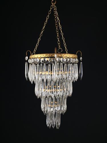 An Edwardian ceiling light