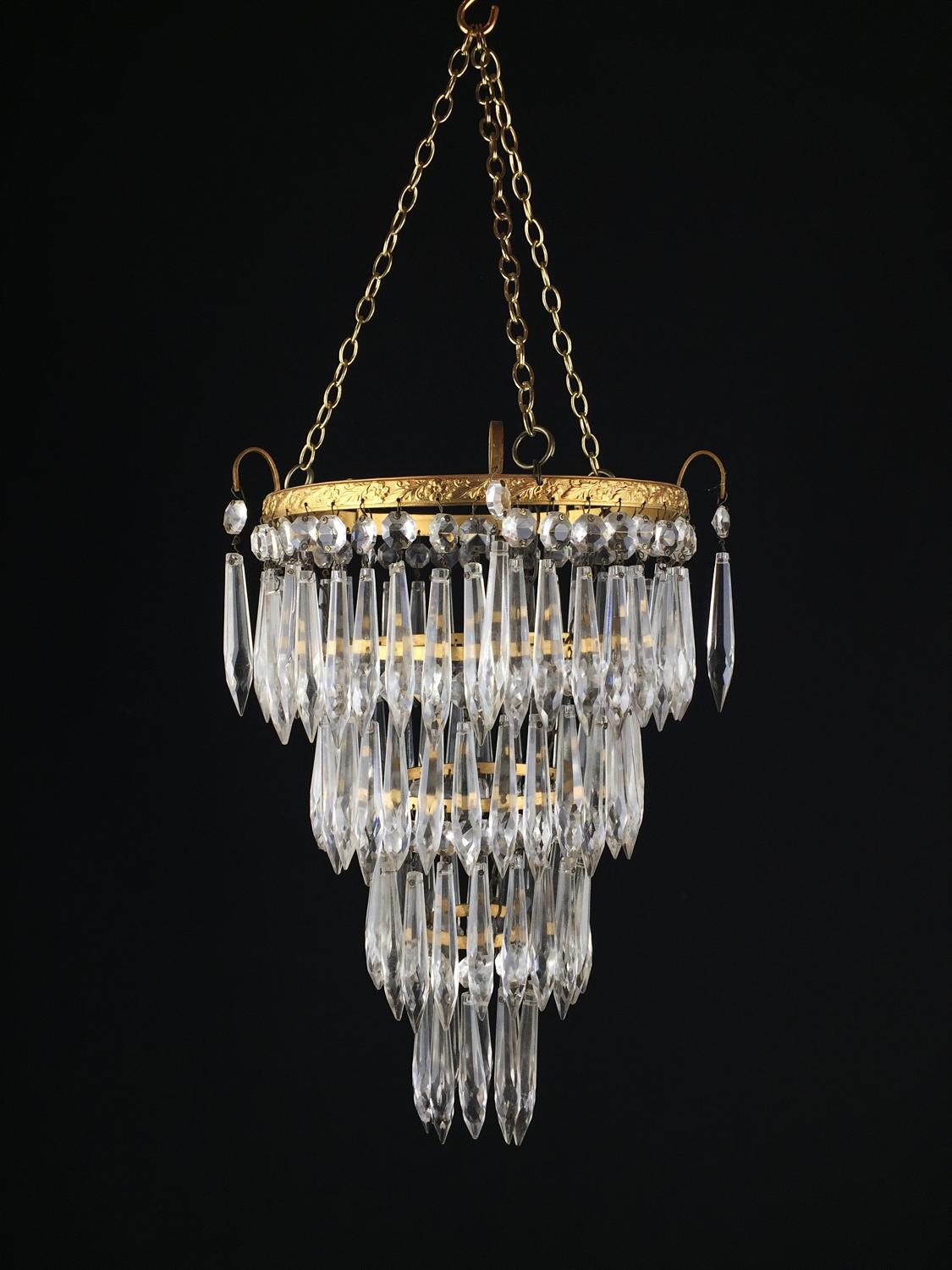 An Edwardian ceiling light