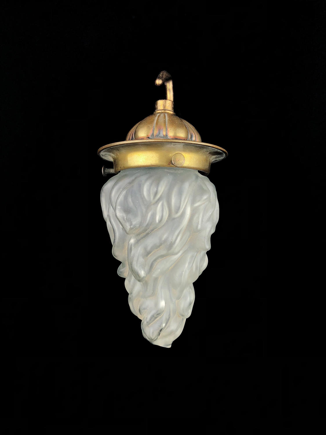 A small flambe ceiling light