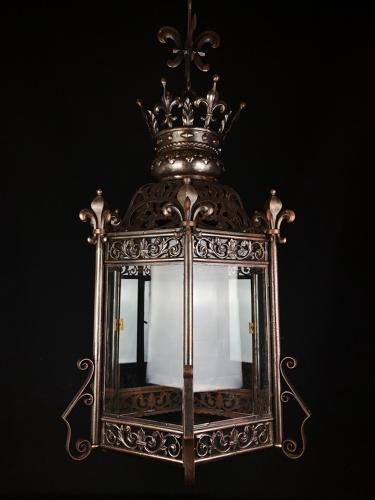 A large Gothic revival lantern
