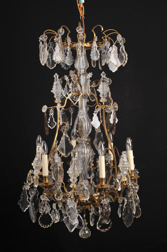 A Louis XV style cage chandelier