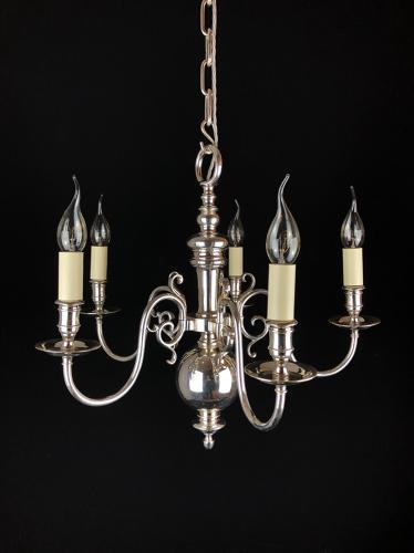 A silvered Dutch style chandelier
