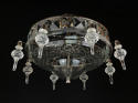 A large and unusual cut glass plafonnier - picture 1