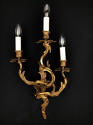 A pair of three arm Louis XV style wall lights - picture 2