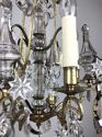 A small gilt and crystal chandelier - picture 8