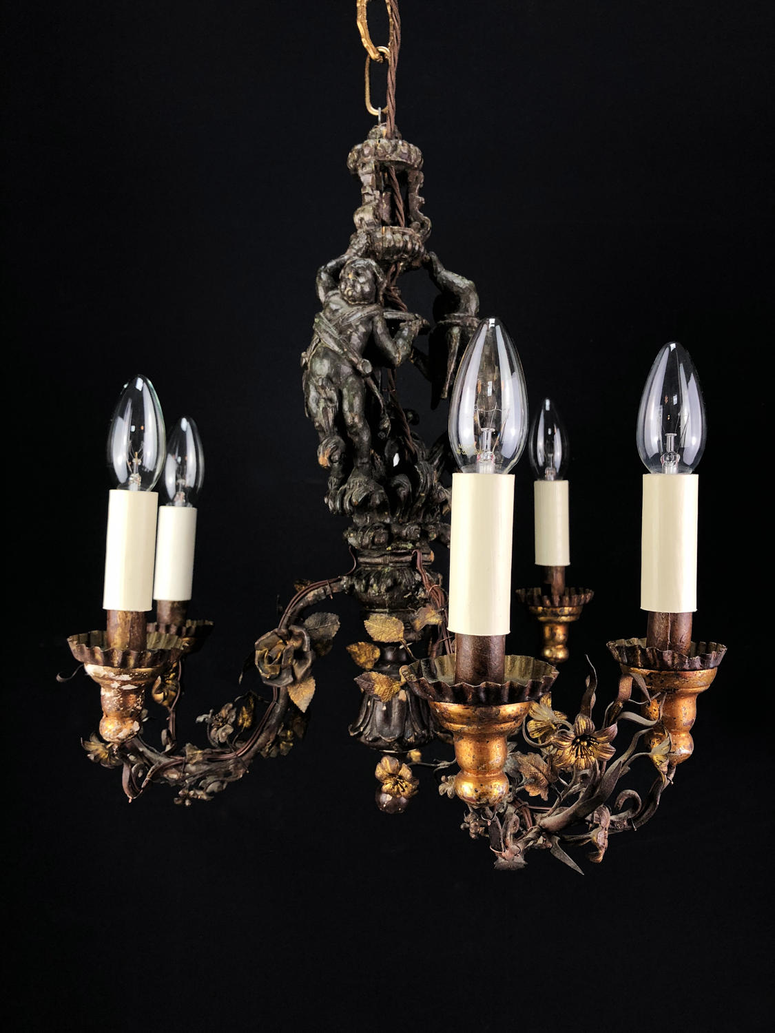 A Small Giltwood Chandelier