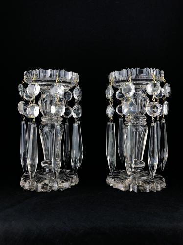 A pair of cut crystal Lustres