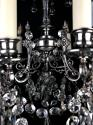 A silvered Gothic nine light chandelier - picture 5