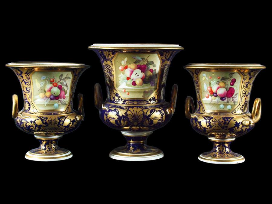 A Garniture of Campana Urns