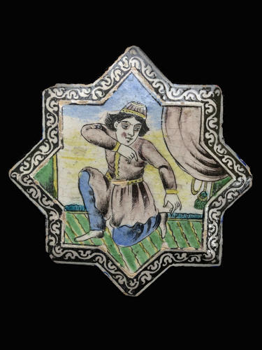 A Qajar Star tile