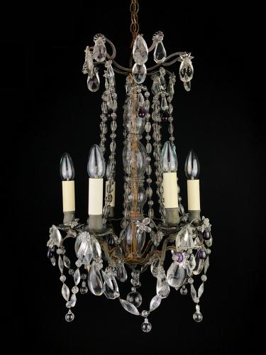 A small chandelier