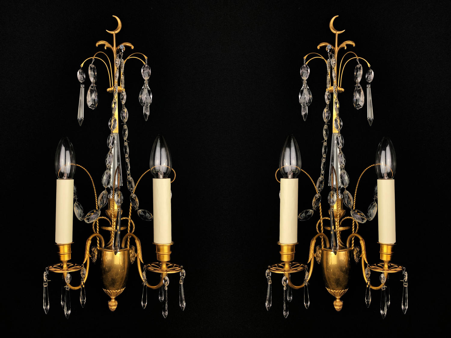 A pair of Baltic wall lights