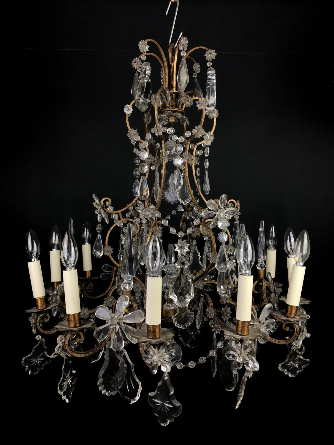 A 12 light Genoese style chandelier