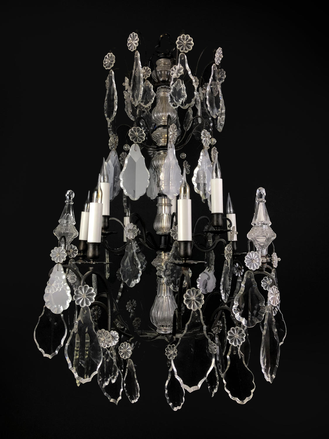 A nine arm French style chandelier