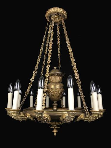 A large Regency Colza chandelier