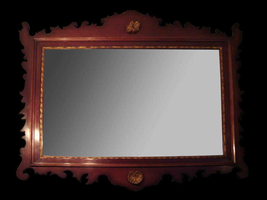 A Mahogany rectangular mirror