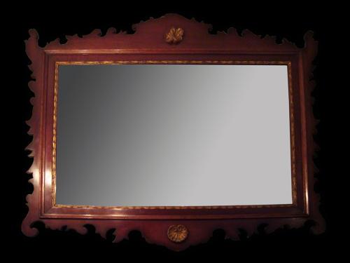 A Mahogany rectangular mirror
