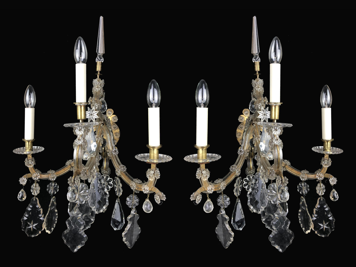 Pair of Marie Therese wall lights