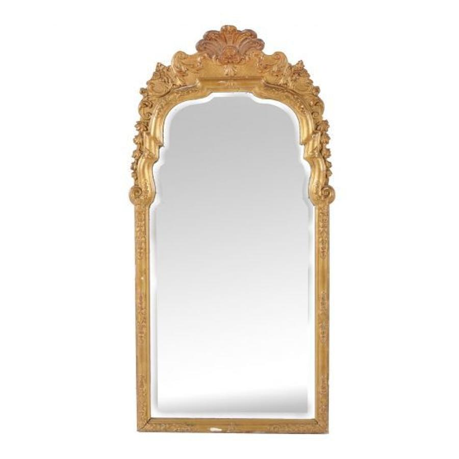 A gilt-wood George I style mirror