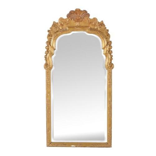 A gilt-wood George I style mirror