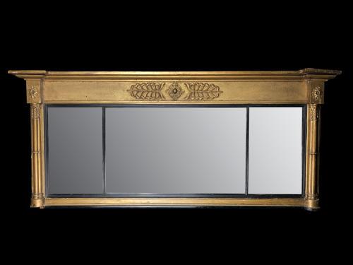 An over mantel George III mirror