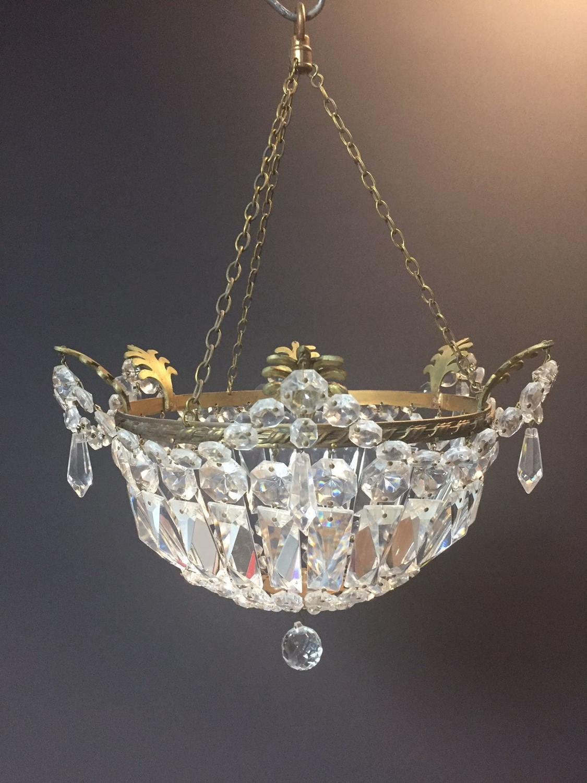 A gilt brass 'bag' style light