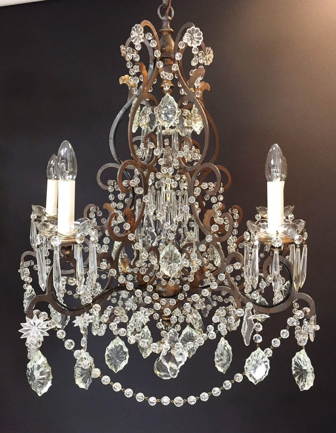 An Italian 18th century style chandelier