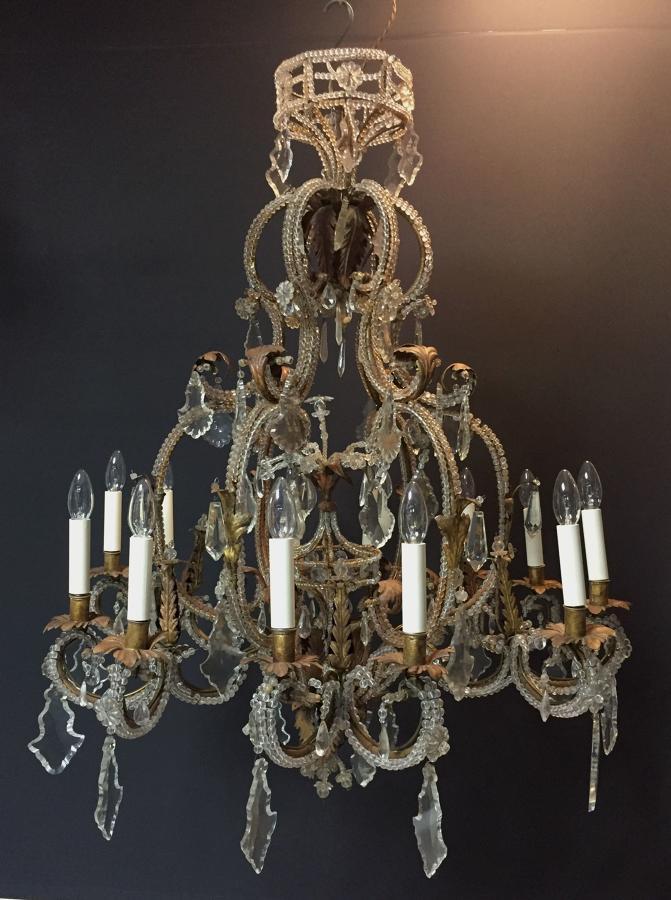 An Italian beaded chandelier