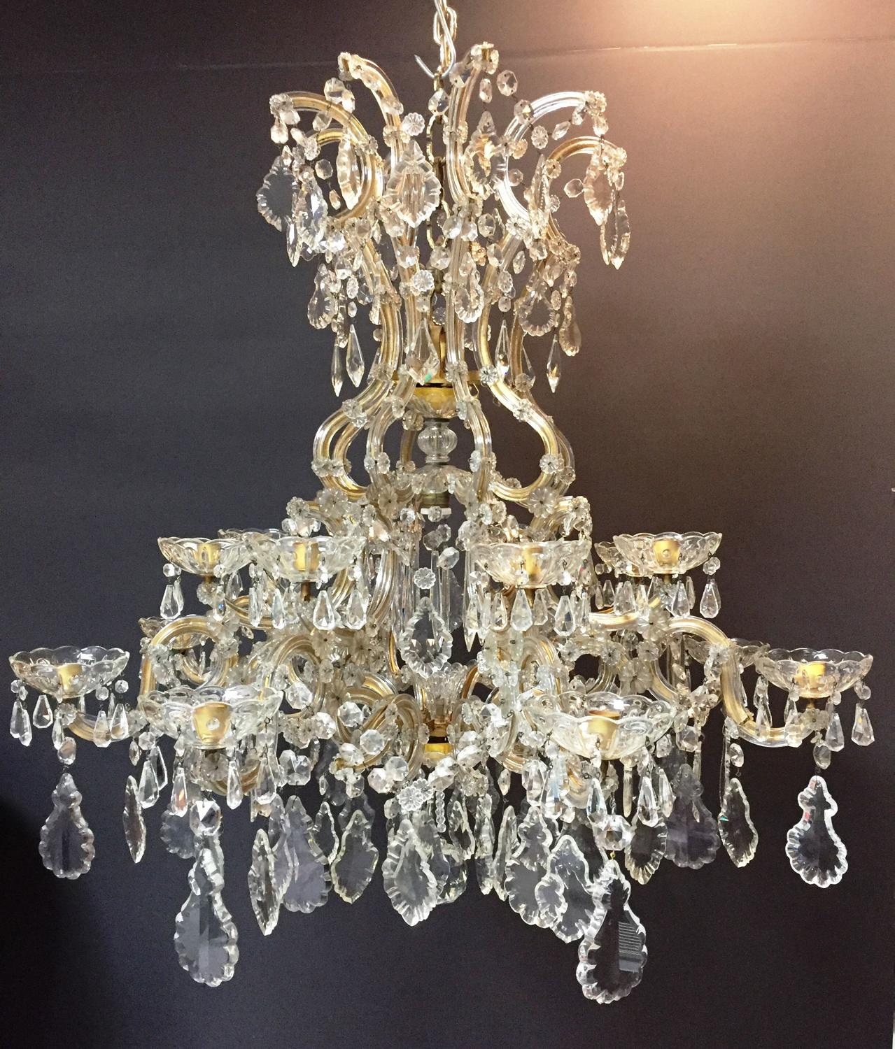 A large Marie Therese Style chandelier