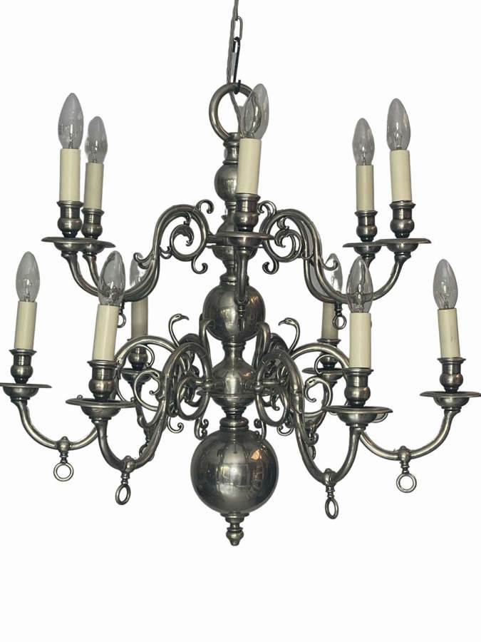 A two tiered Dutch style chandelier
