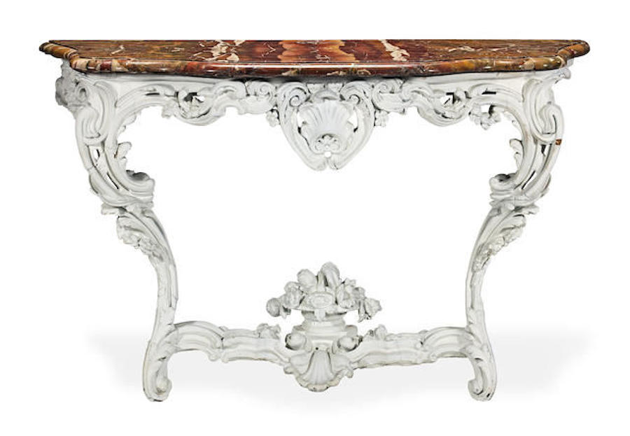 A George III serpentine console table