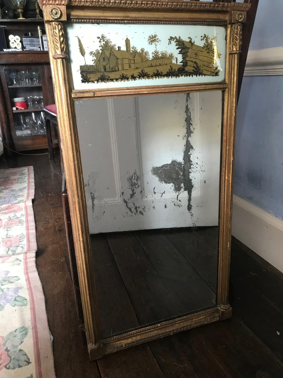 A giltwood Regency Mirror