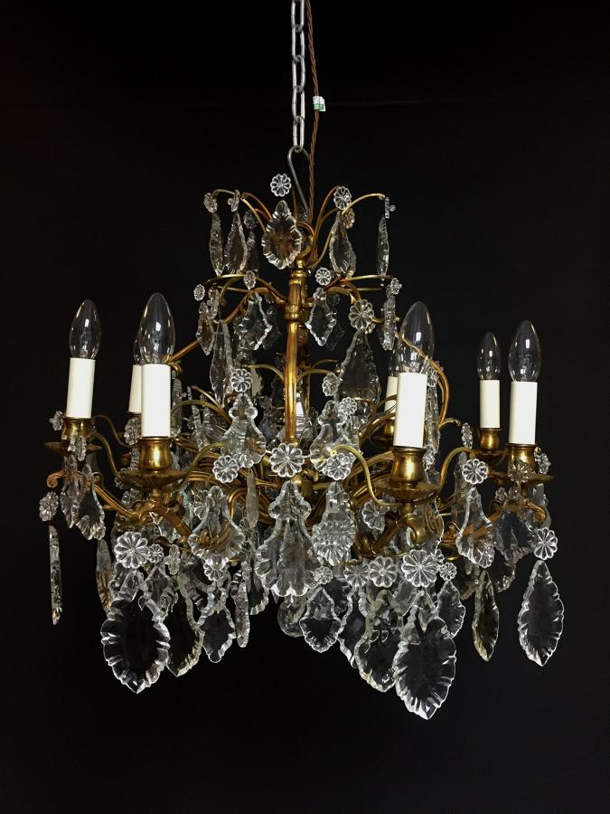 An eight arm Louis XV style chandelier