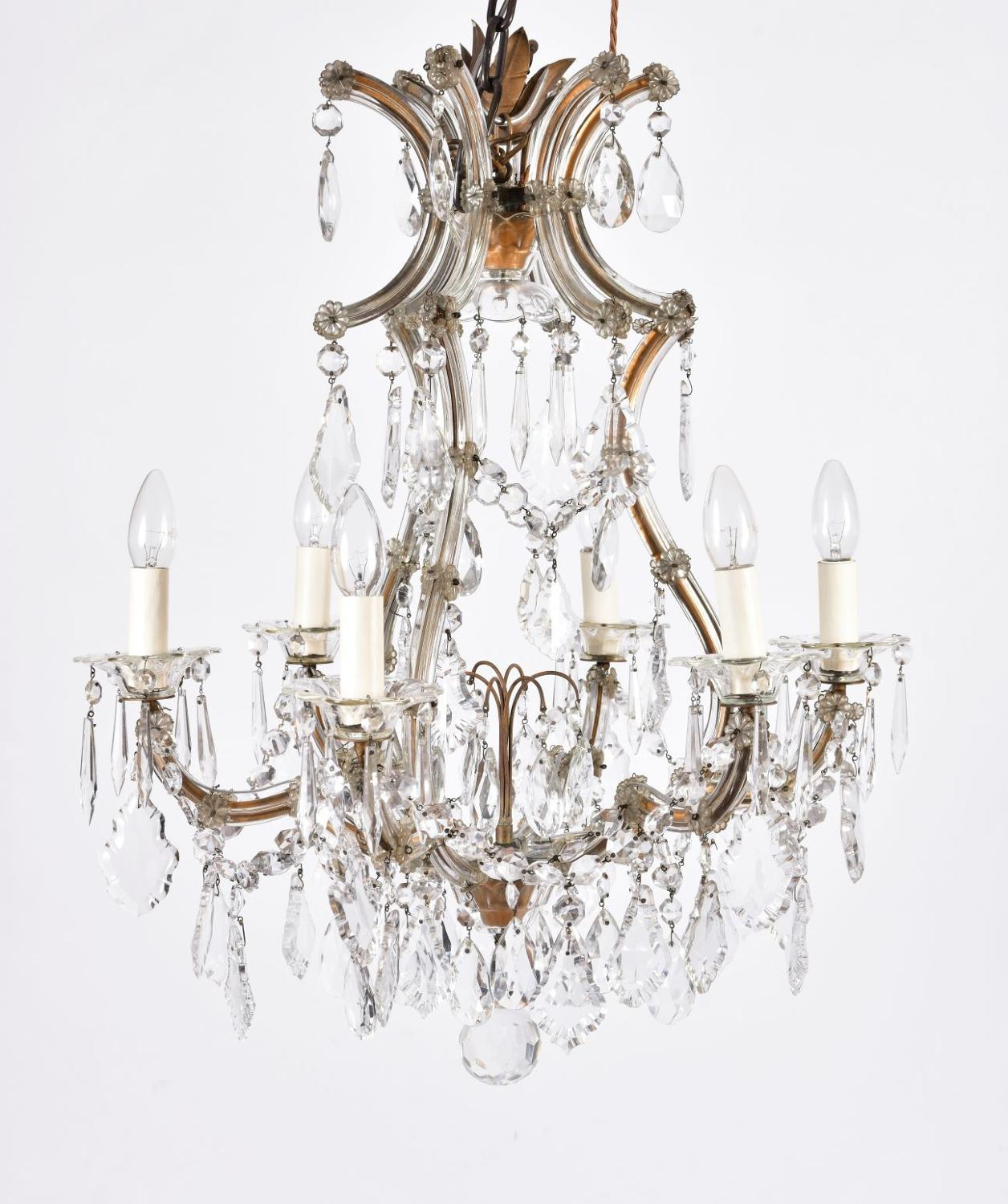 A small charming Marie Theresa chandelier
