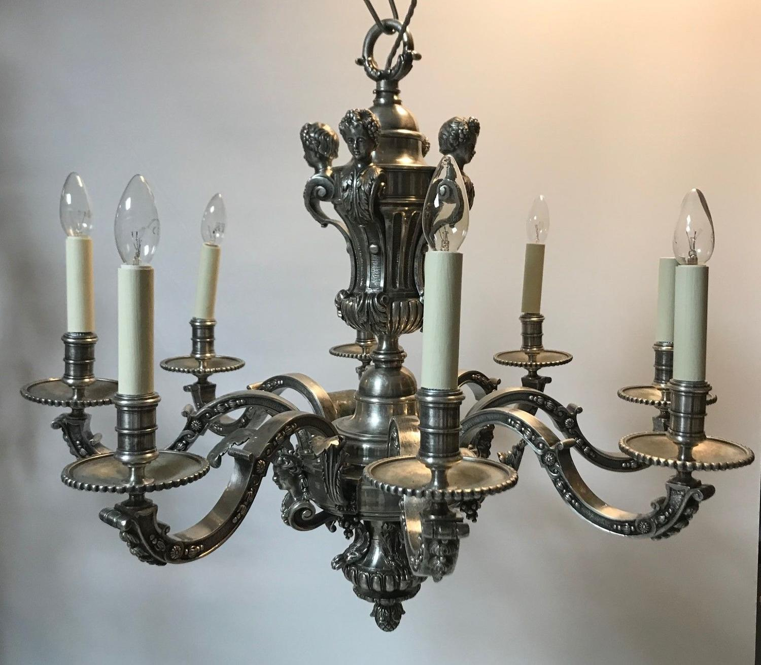 A pair of 19th century chandeliers