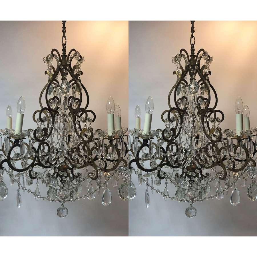 An Italian 18th century Rococo style chandelier