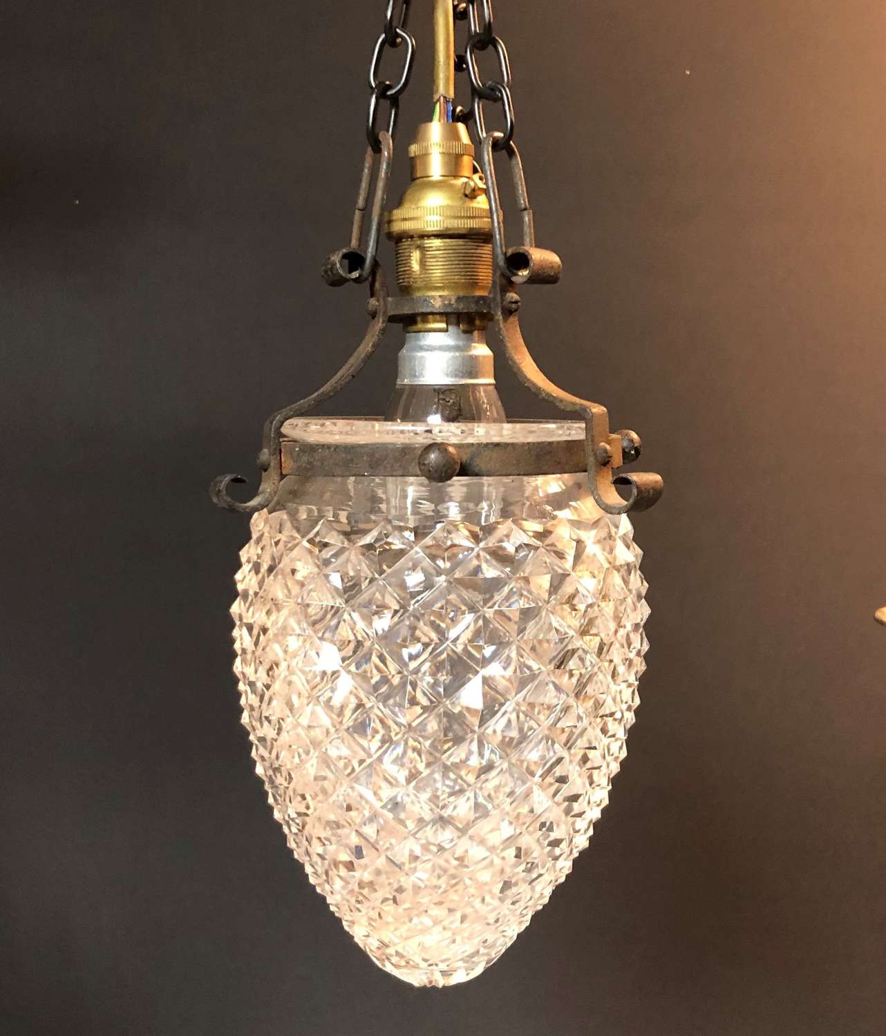 A acorn shaped small Edwardian light