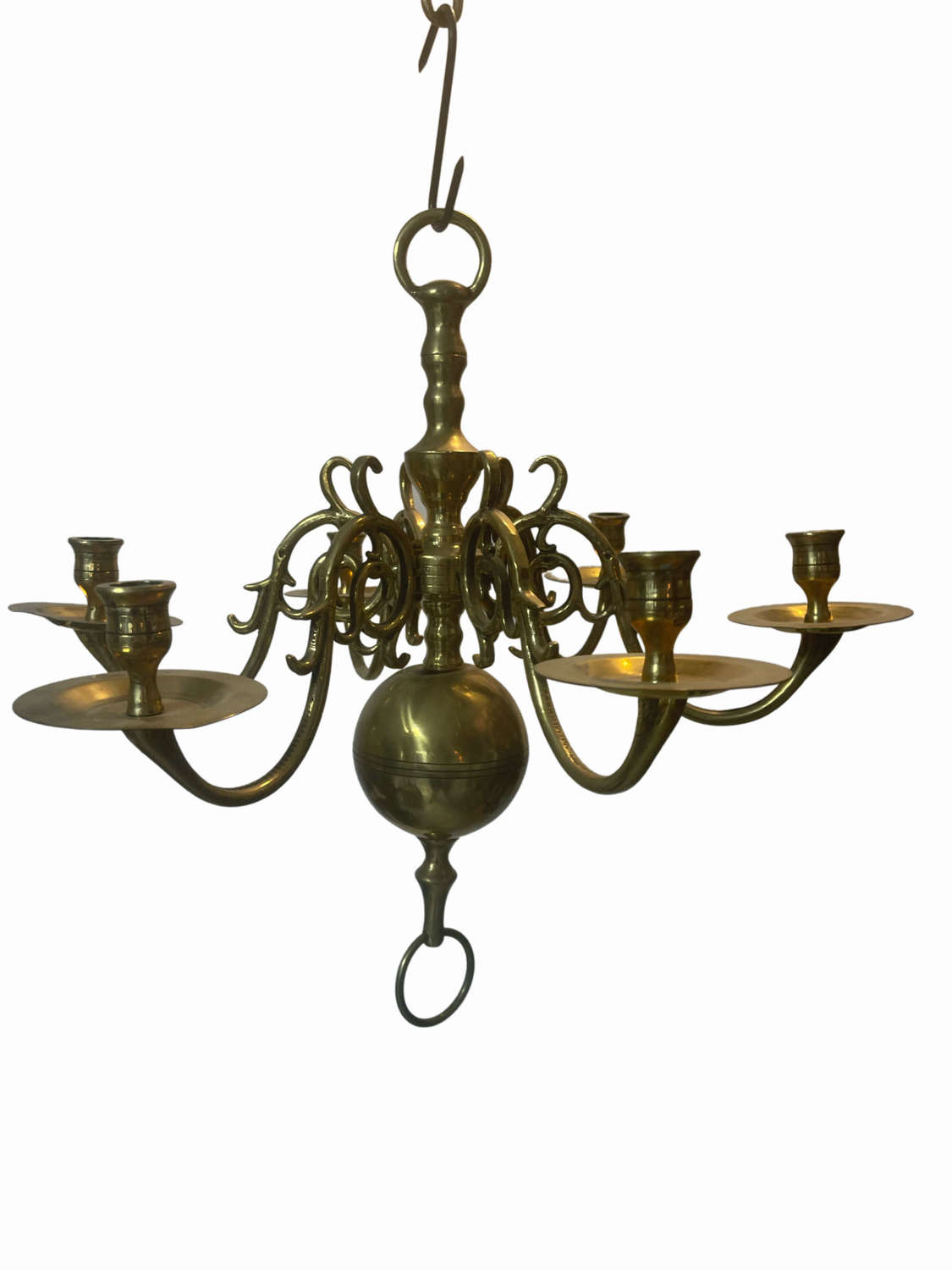 A mid 19th century Dutch style chandelier