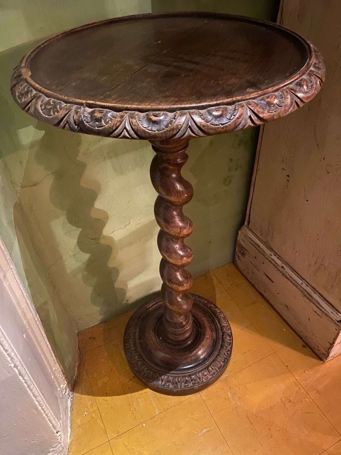 A 19th century circular topped small table
