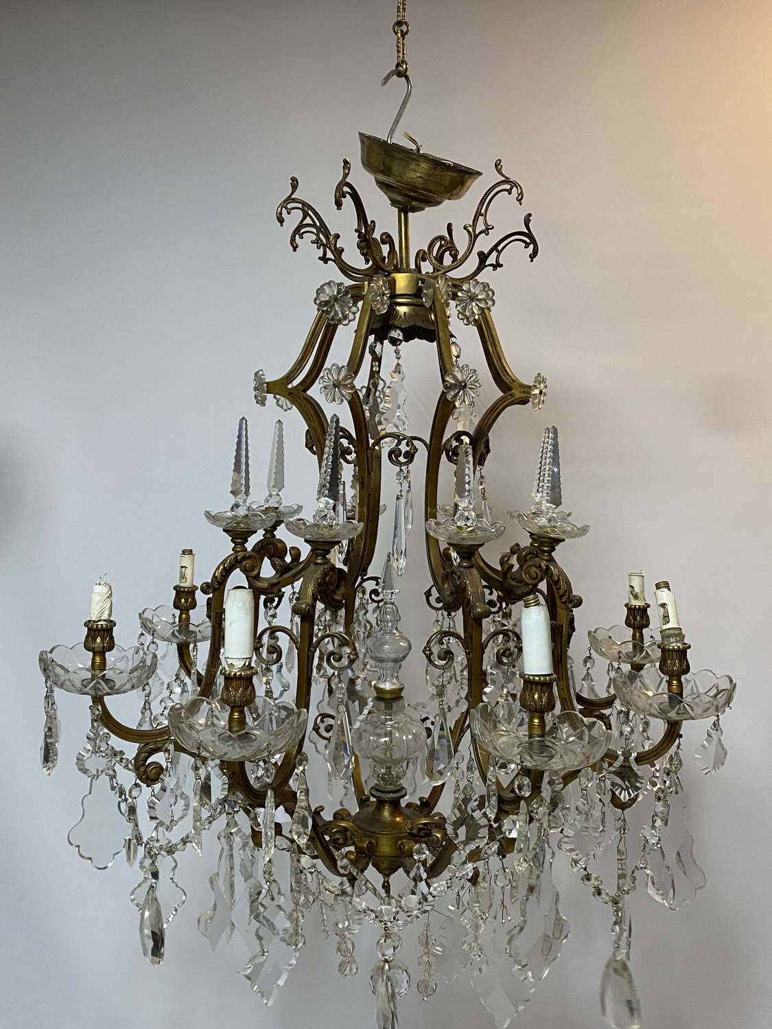 A guit rococo style French chandelier