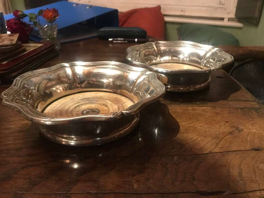 Pair of early 19  Century Silver plate bases