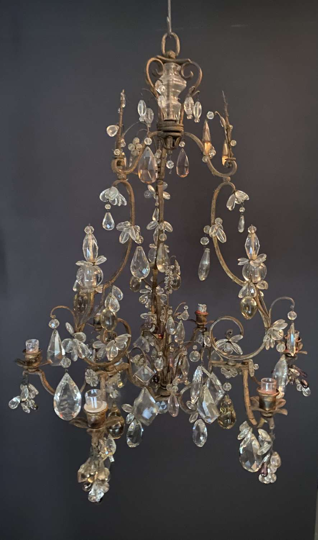 A begezz of Paris tole chandelier