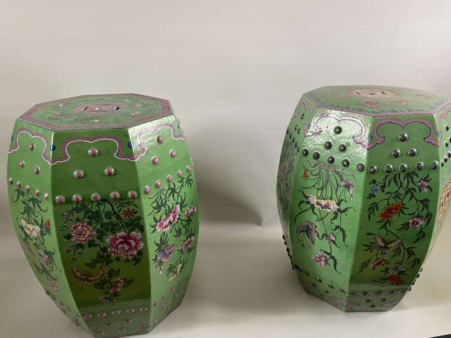 A pair of Cantonese garden seats
