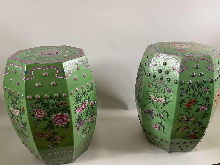 A pair of Cantonese garden seats