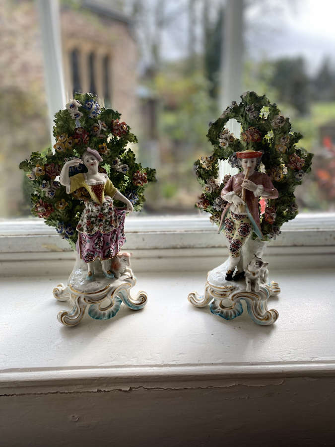 A pair of Chelsea star figures possibly C1900