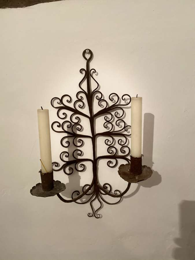 A Spanish hard wrought iron